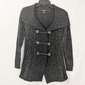 Style & Co Grey Military Style Cardigan Petite S